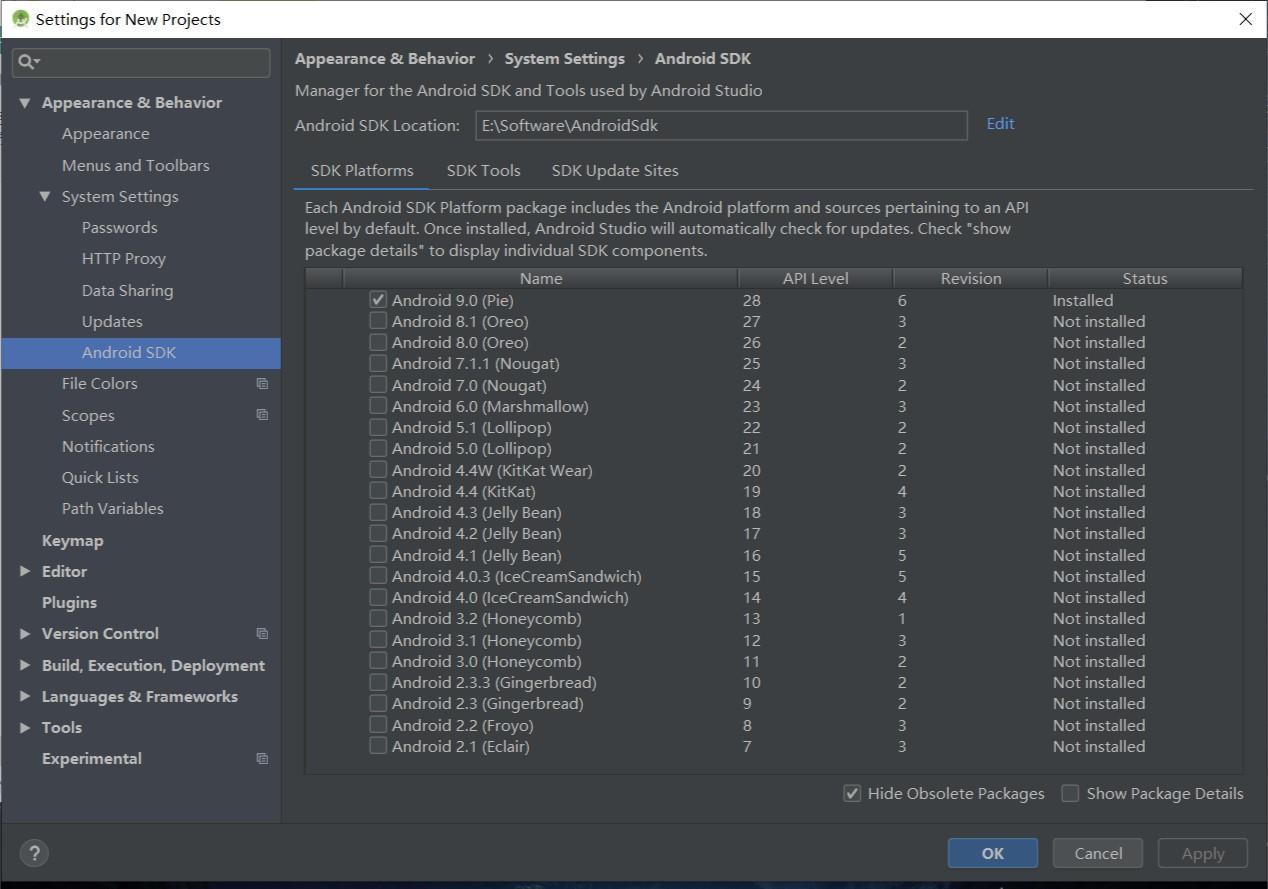 Android SDK安装位置修改