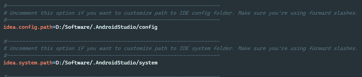 .AndroidStudio文件夹位置修改